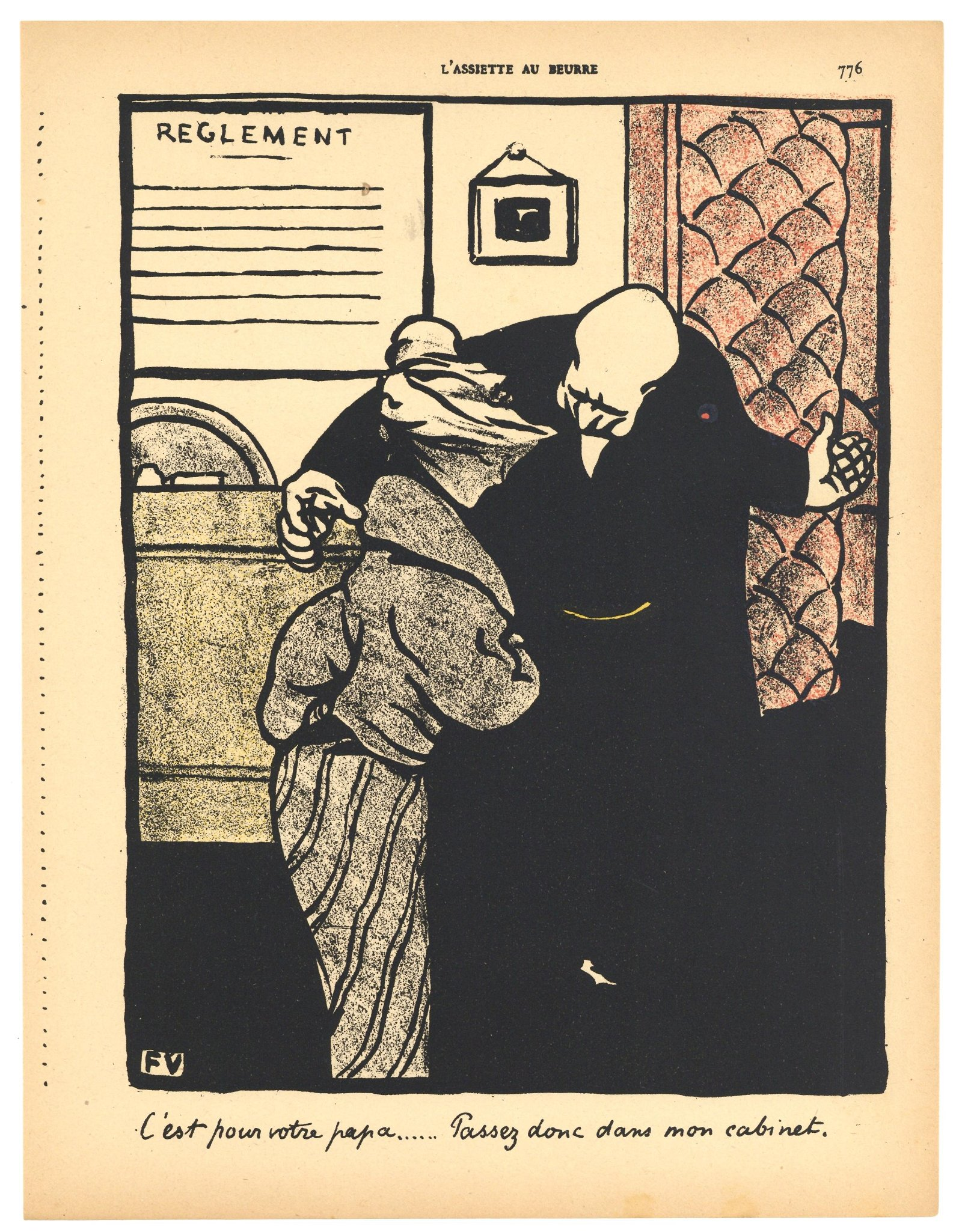 "Felix Vallotton original lithograph ""Crimes et"