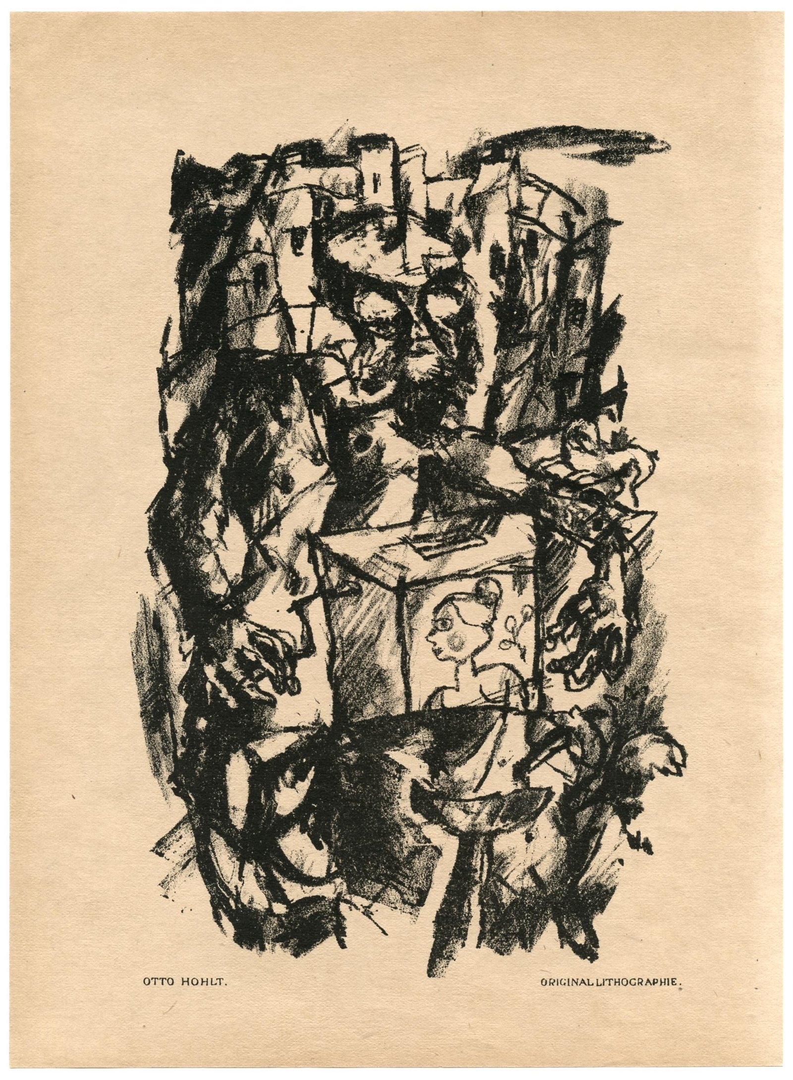 Otto Hohlt original lithograph