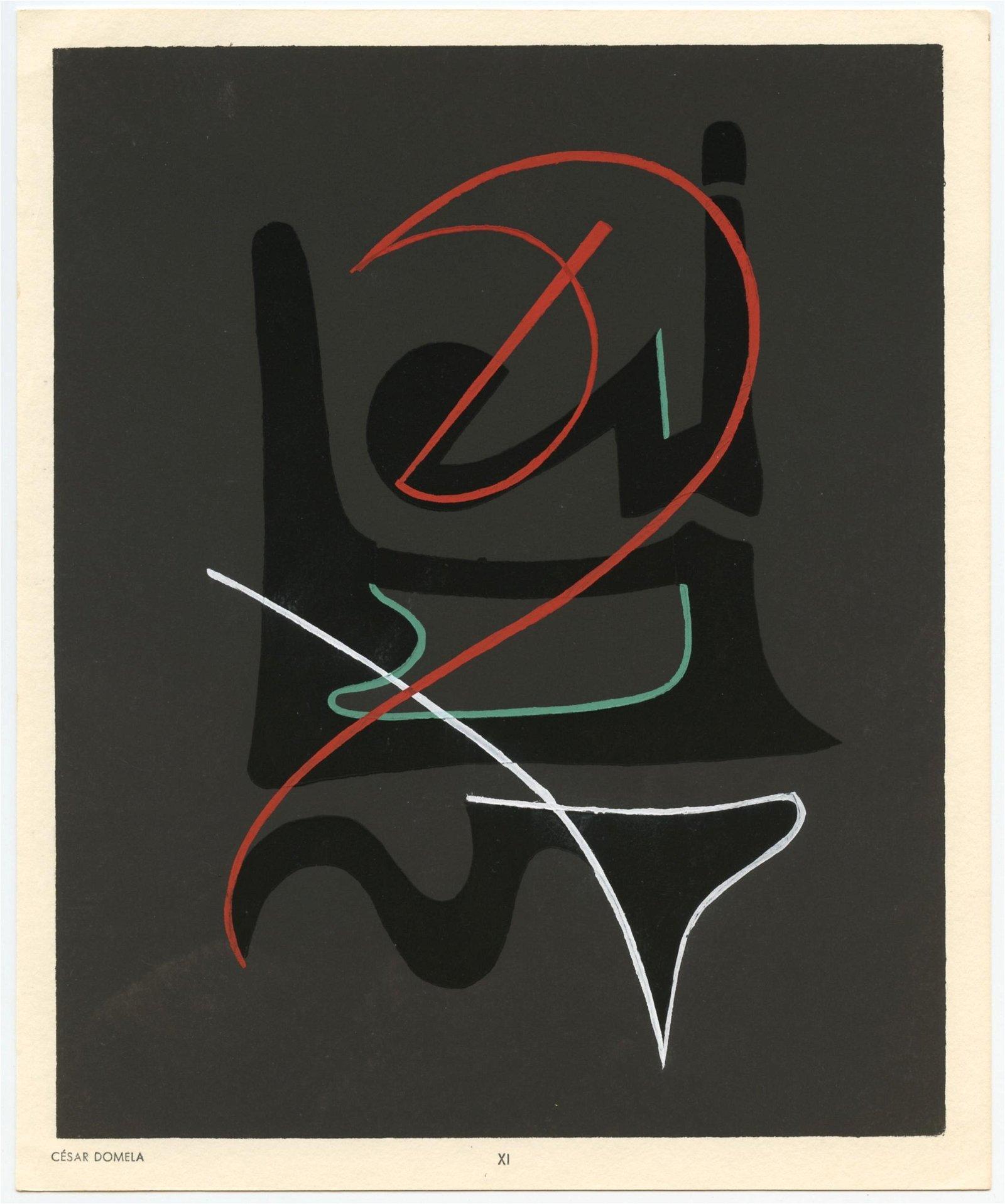 Cesar Domela pochoir   Temoignages pour l'art abstrait