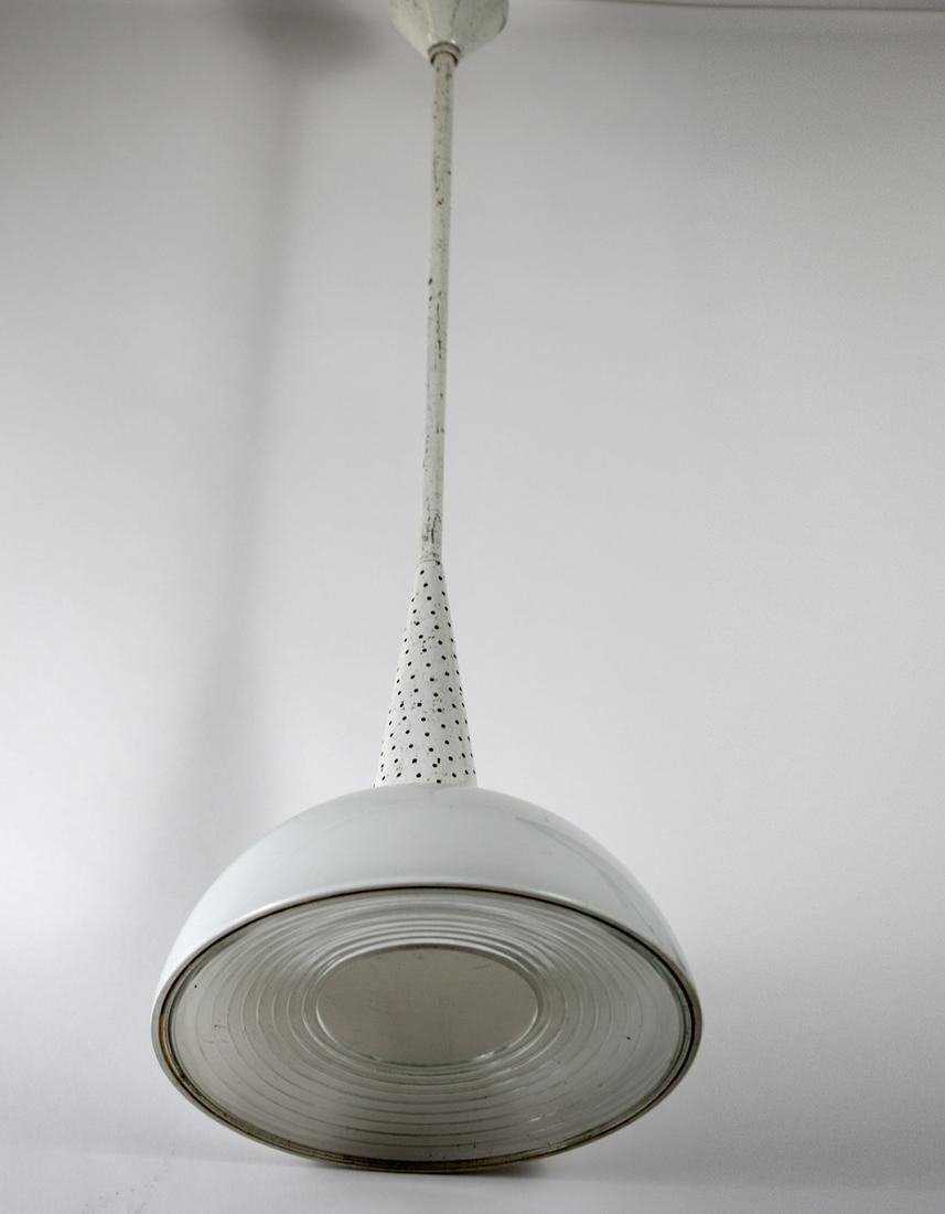 FRENCH INDUSTRIAL MODERNIST HANGING LAMP BY MATHIEU