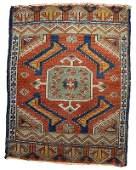 Handmade antique collectible Turkish Yastik rug 1.8' x