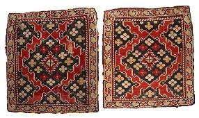 Handmade antique collectible Armenian Karabakh pair of