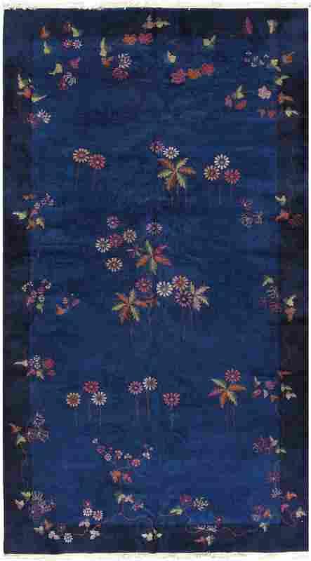 Handmade antique art deco Chinese rug 9.11' x 17.5' (