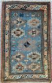 Antique caucasian kazak 2'7x4'9