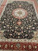 Semi Antique Hand Woven Persian Silk&Wool Tabriz 50 Raj