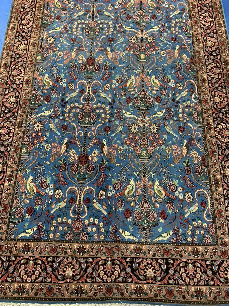 Semi Antique Hand Woven Persian Silk&Wool Tabriz 40 Raj