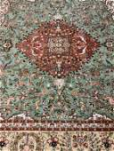 Semi Antique Hand Woven Persian Tabriz Taba 11.9x8.10
