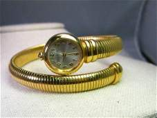 Vintage Joan Rivers Gold Tone Tubogas Wrapped