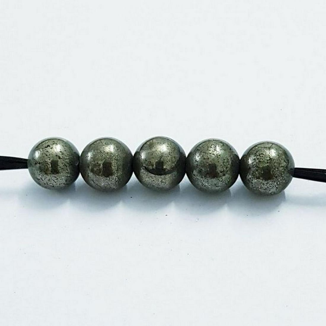 28.80 ct Natural 8mm Hematite Drilled Beads