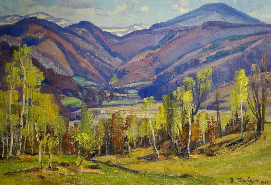 Oil painting Mountain landscape Gabda Vasily