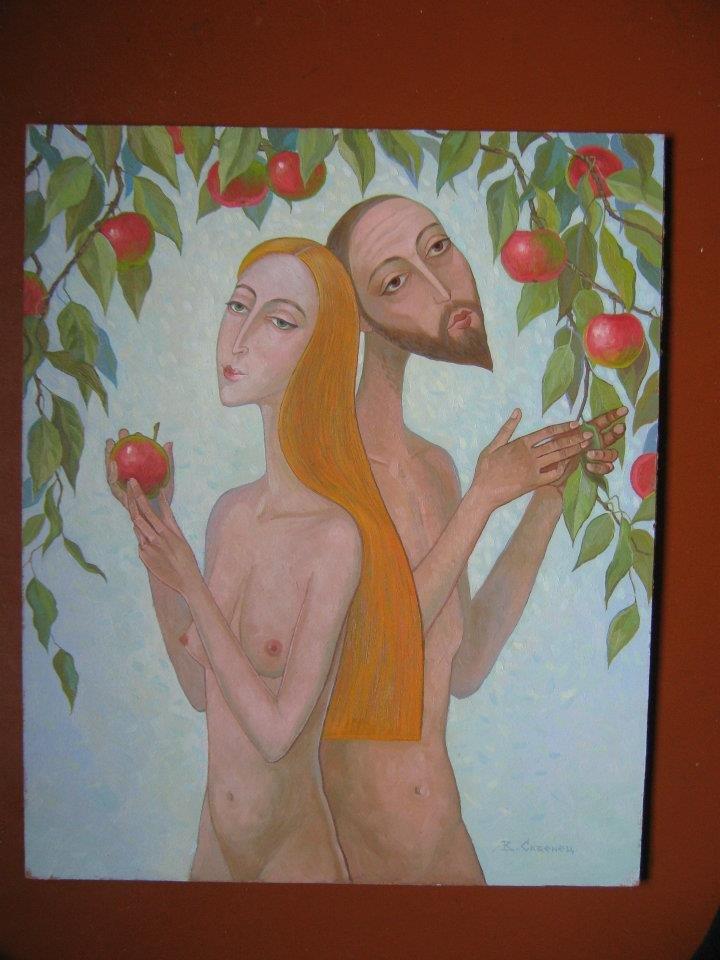 Oil painting Couple portrait Kalebets  Valery