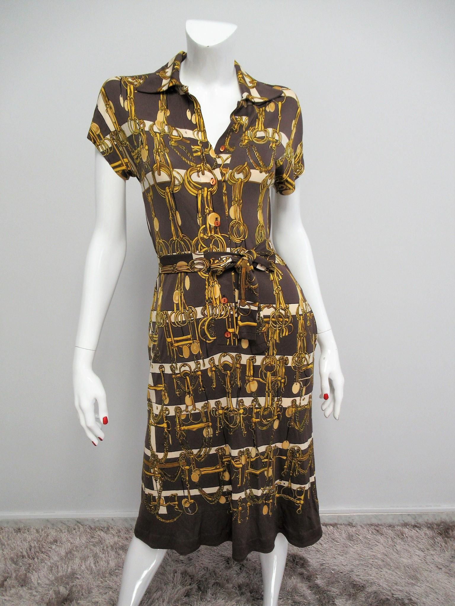 """Hermes"" Vintage pinafore dress Size M"