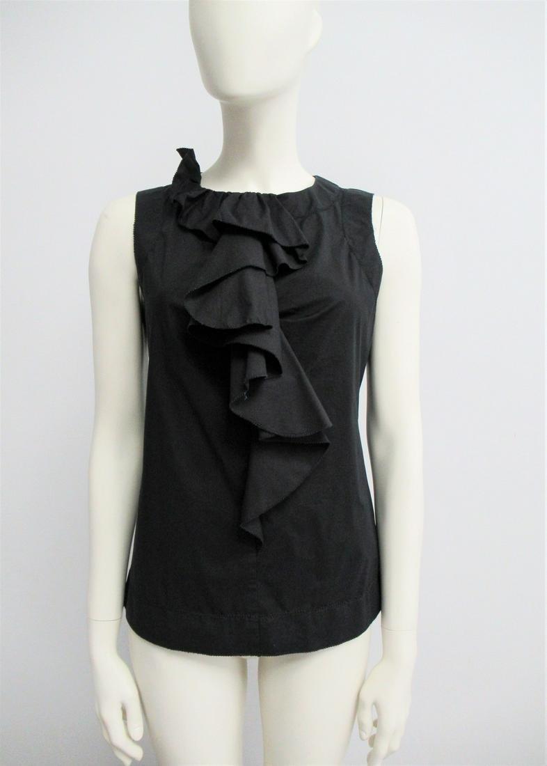 """""""Diane von Furstenberg"""" black cotton top, size S / M"""