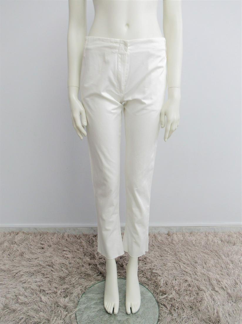 """Jil Sander"" Pants ""Capri"" model in white cotton Size"