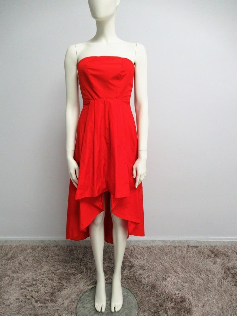 """""""Pinko"""" Red taffeta decolletè dress Size XS"""