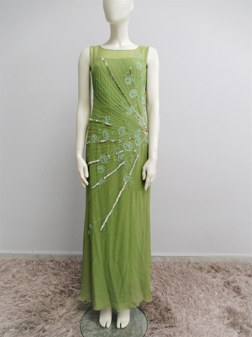 """Simon & Cailan'd"" Green pure silk dress Size M"