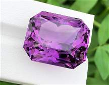 60 Carats Natural Fancy Cut Purple Amethyst ~ 25x21x18
