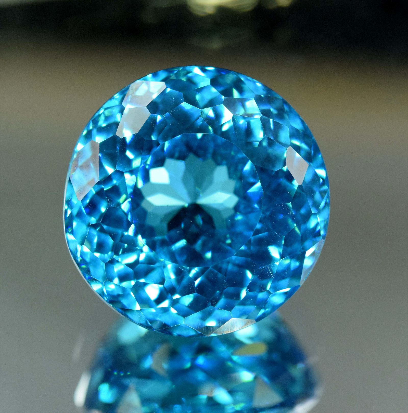 48.90 cts Round Shape Stunning Electric Blue Topaz