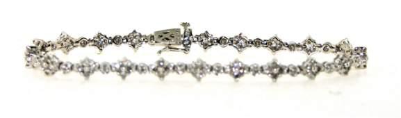 2.5 Ct Diamond SI1-SI2 14K 9.5 Grams Bracelet