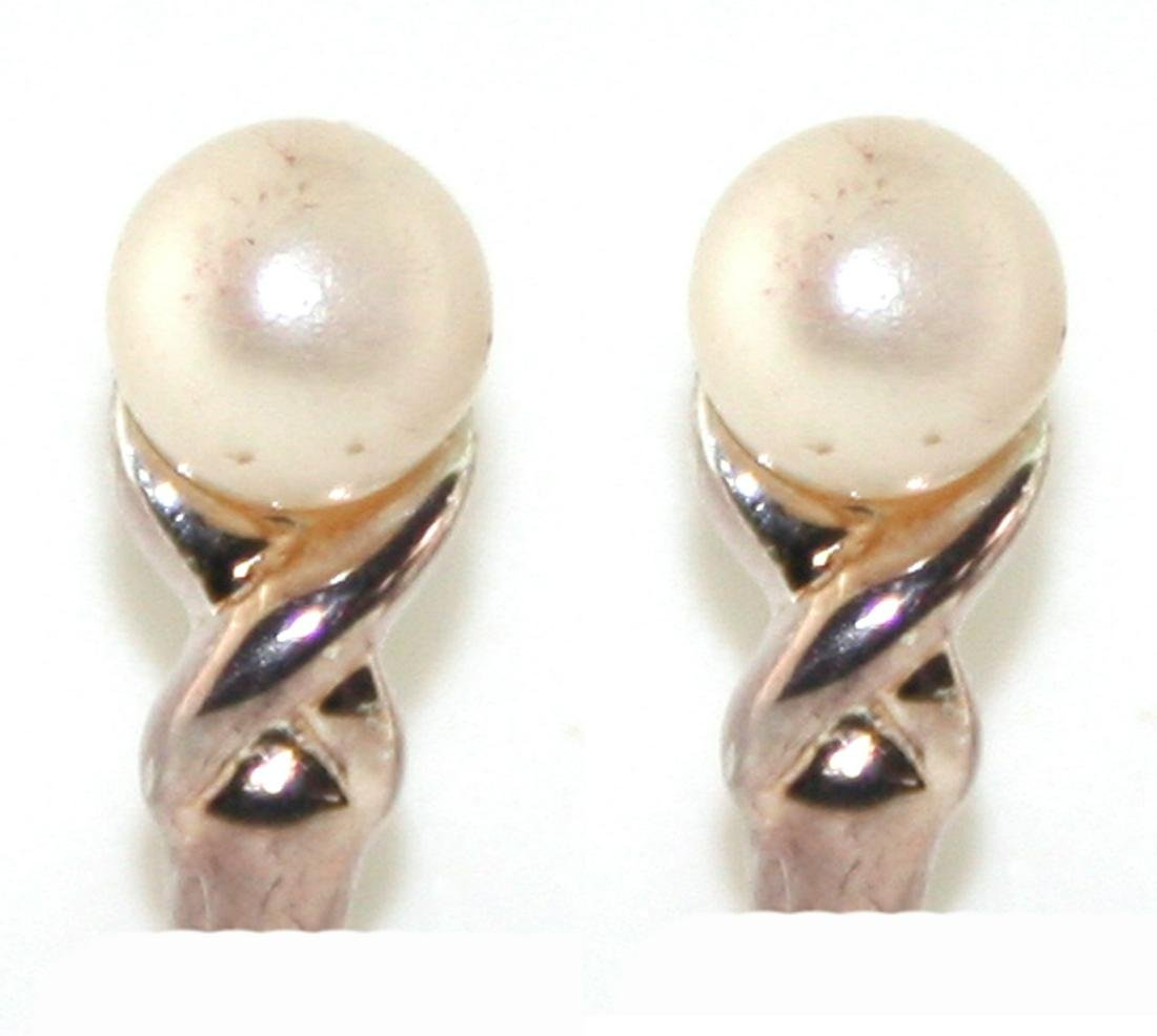 5MM Pearl Sterling Silver Earring