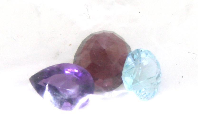 7 Ct Natural Amythest, Garnet & Blue Topaz