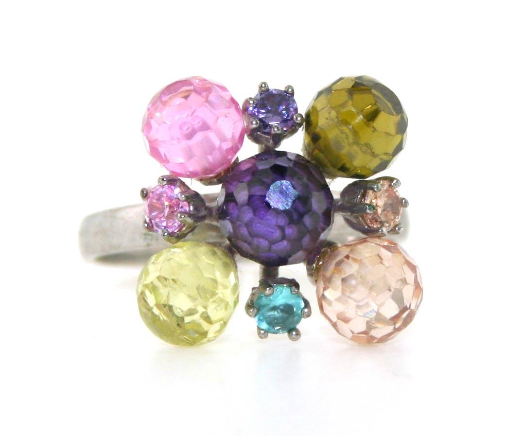 5 Ct Created Color Tourmaline & Amythest Sterling