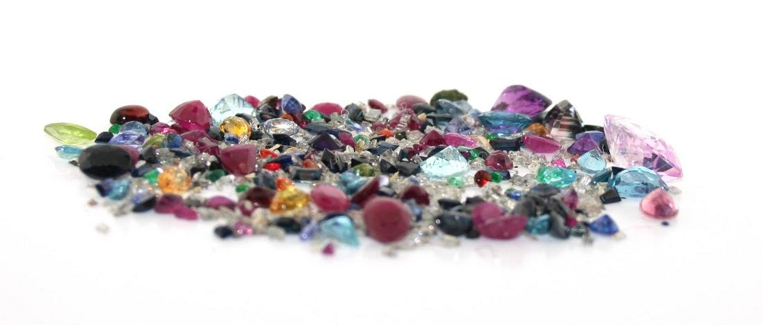 80 Ct Diamond ,Ruby, Pink Blue & Yellow Sapp, Amethyst,