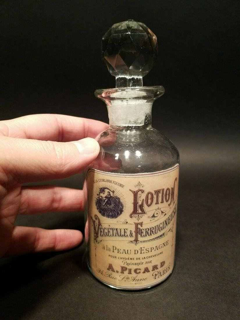 Glass French Victorian Classic Lotion Bottle