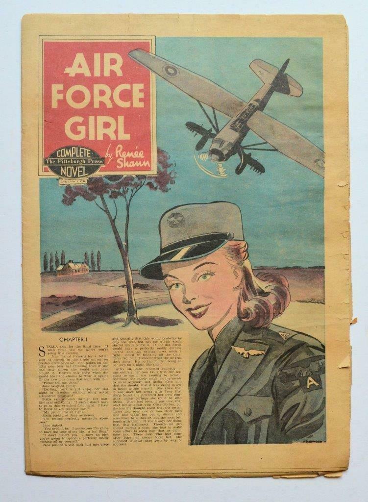 WWII WOMEN, 1942 AIR FORCE GIRL by RENEE SHAUN, 11.1.42