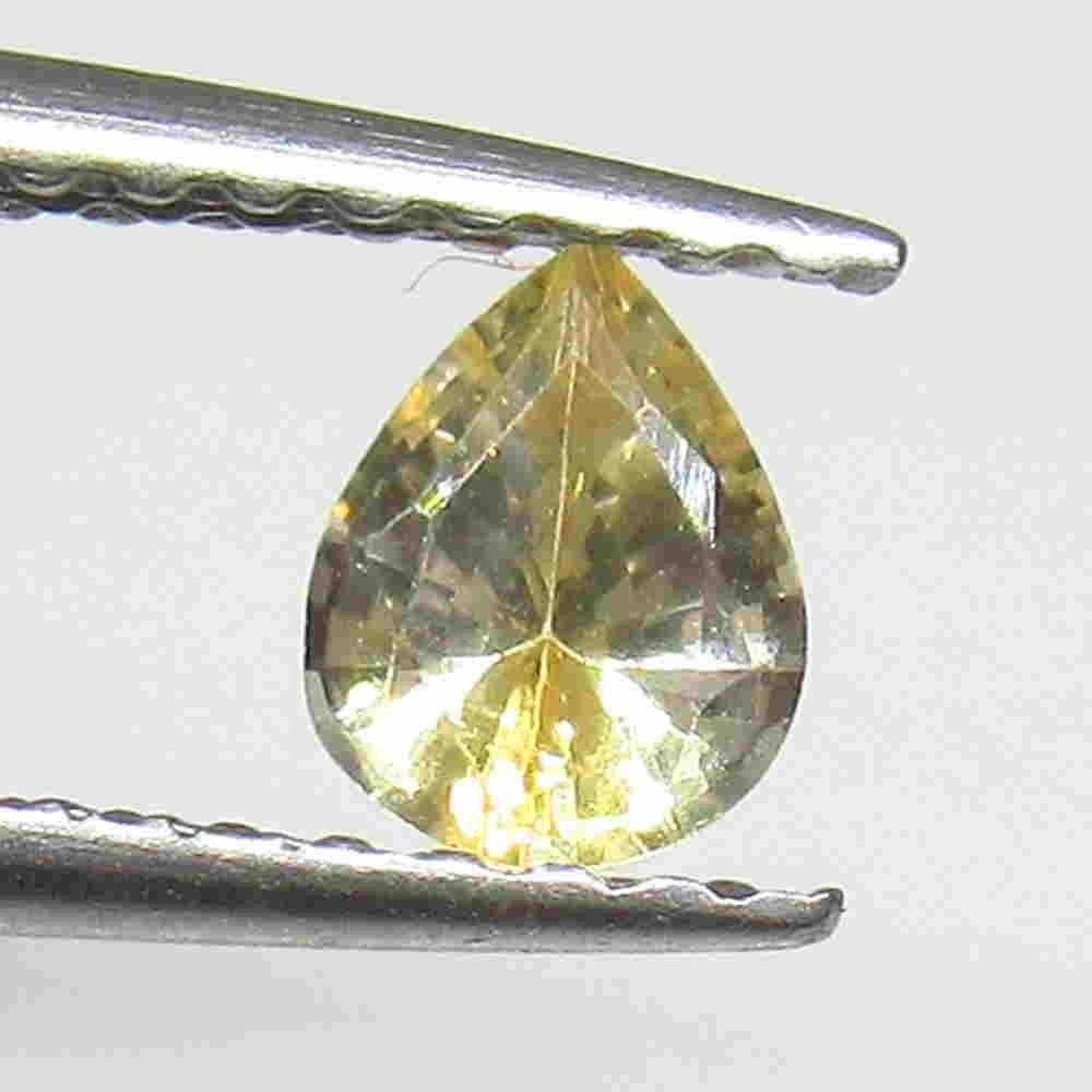 0.34 Ctw Natural Ceylon Yellow Sapphire Pear Cut