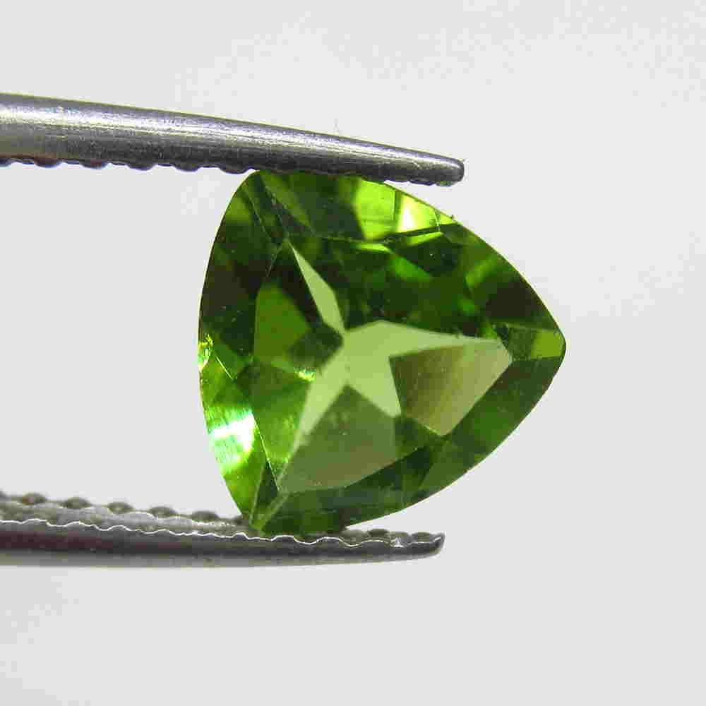 1.04 Ctw Natural Pakistan Peridot Trillion Cut