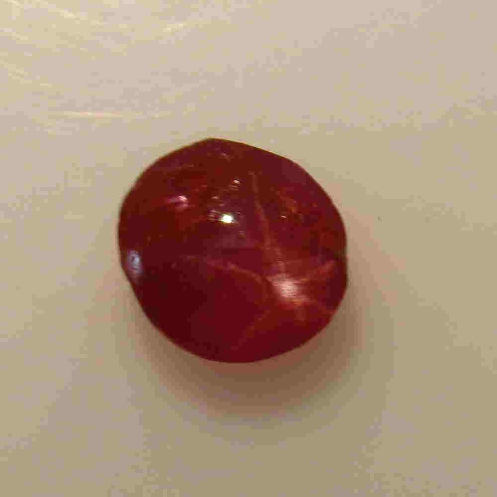 1.01 Ctw Natural Six Line Red Star Ruby Oval Cab