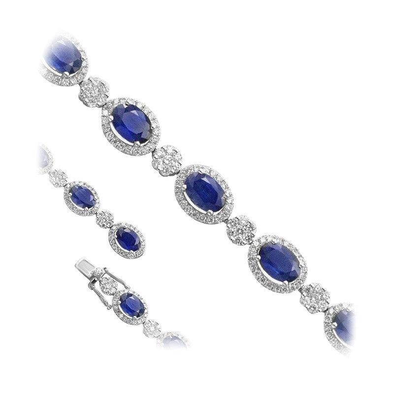 12 Carat Blue Sapphire Fine Jewellery White Diamond