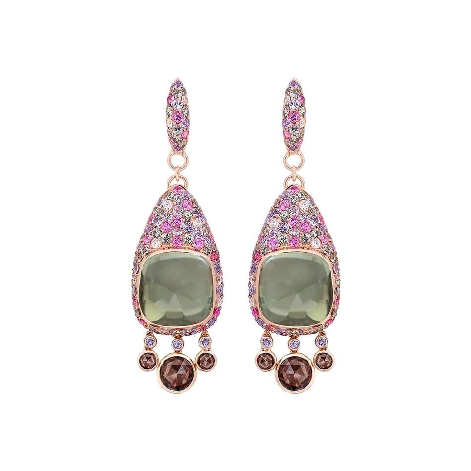 Diamond Quartz Green Sapphire Pink Sapphire Quartz