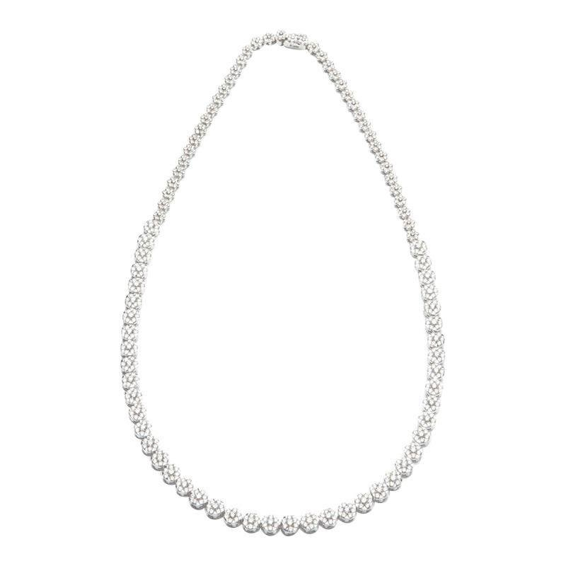 Royal Fine Jewelry White Diamond White Gold Drop Link