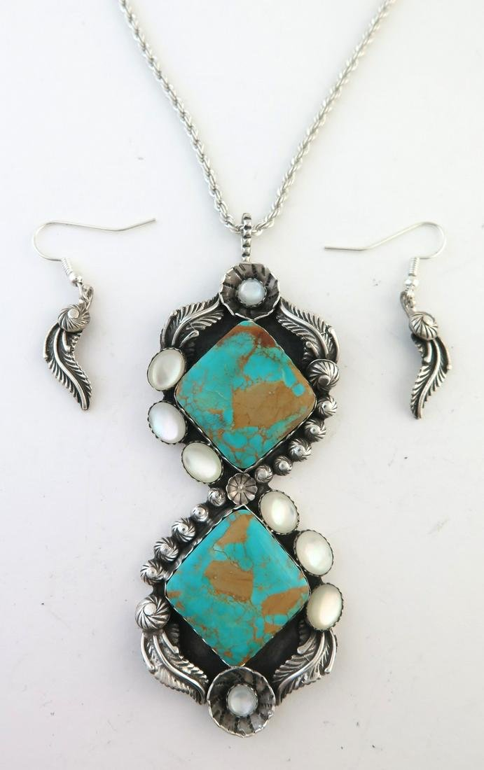 EPIC XXL Sterling Silver & Turquoise Necklace Set