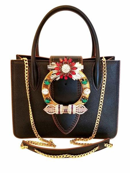 Miu Miu Madras Lady 2018 Jeweled Crystal Embellished