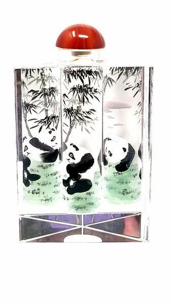 Semli Chinese Panda Perfume Bottle Double Glass Pane