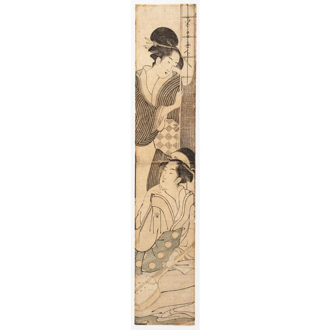 Eisho Chokosai, Hashira-e, Beauties and Shamisen