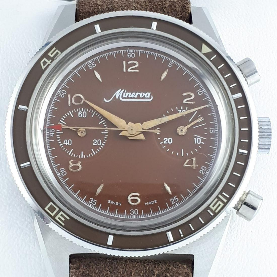Minerva - Vintage Two Compax Diver Chronograph Manual