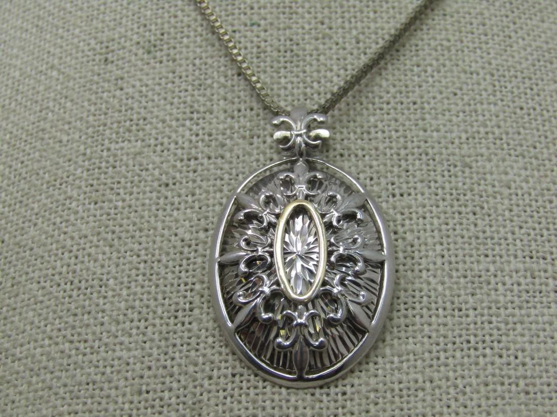 Vintage Sterling Silver  14kt G.F. Fleur-de-lis