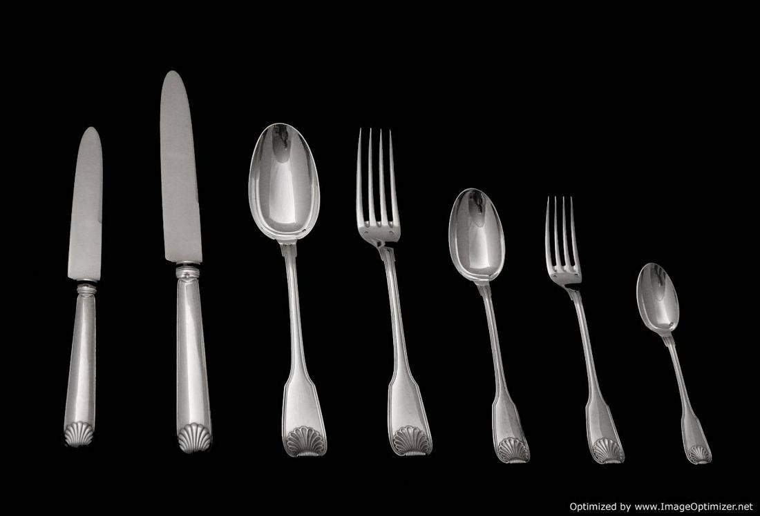 TETARD 85pcs. - STUNNING STERLING SILVER FLATWARE SET +