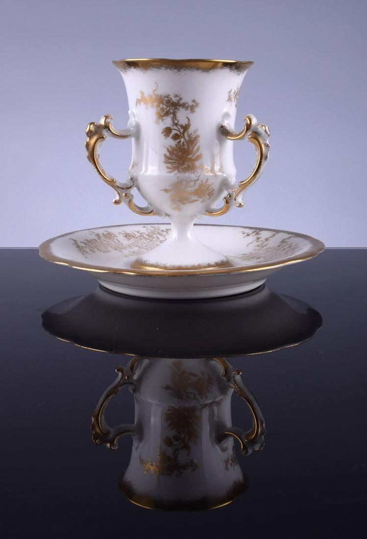 Tressemann & Vogt Limoges Three-Handled Teacup