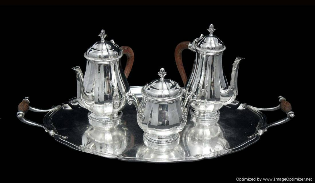 CANAUX FRENCH ANTIQUE 4pc. LOUIS XVI STERLING SILVER