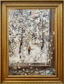 Oil painting Park in winter Eremin Boris Alexandrovich