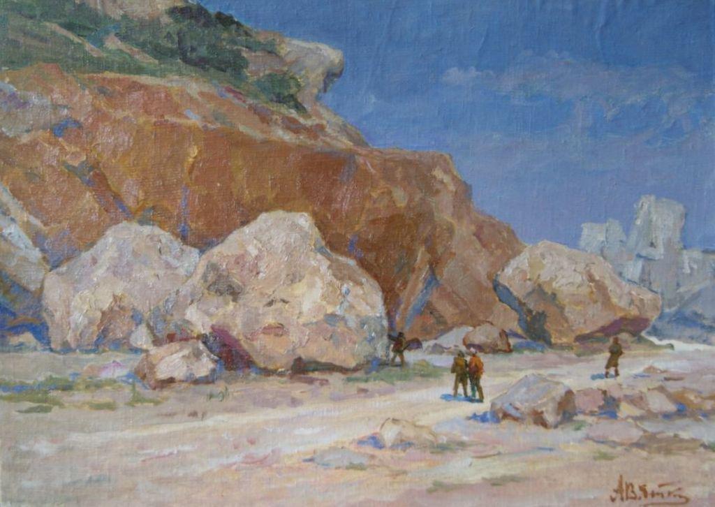 Oil painting Boulders Vyatkin Alexander Vasilievic