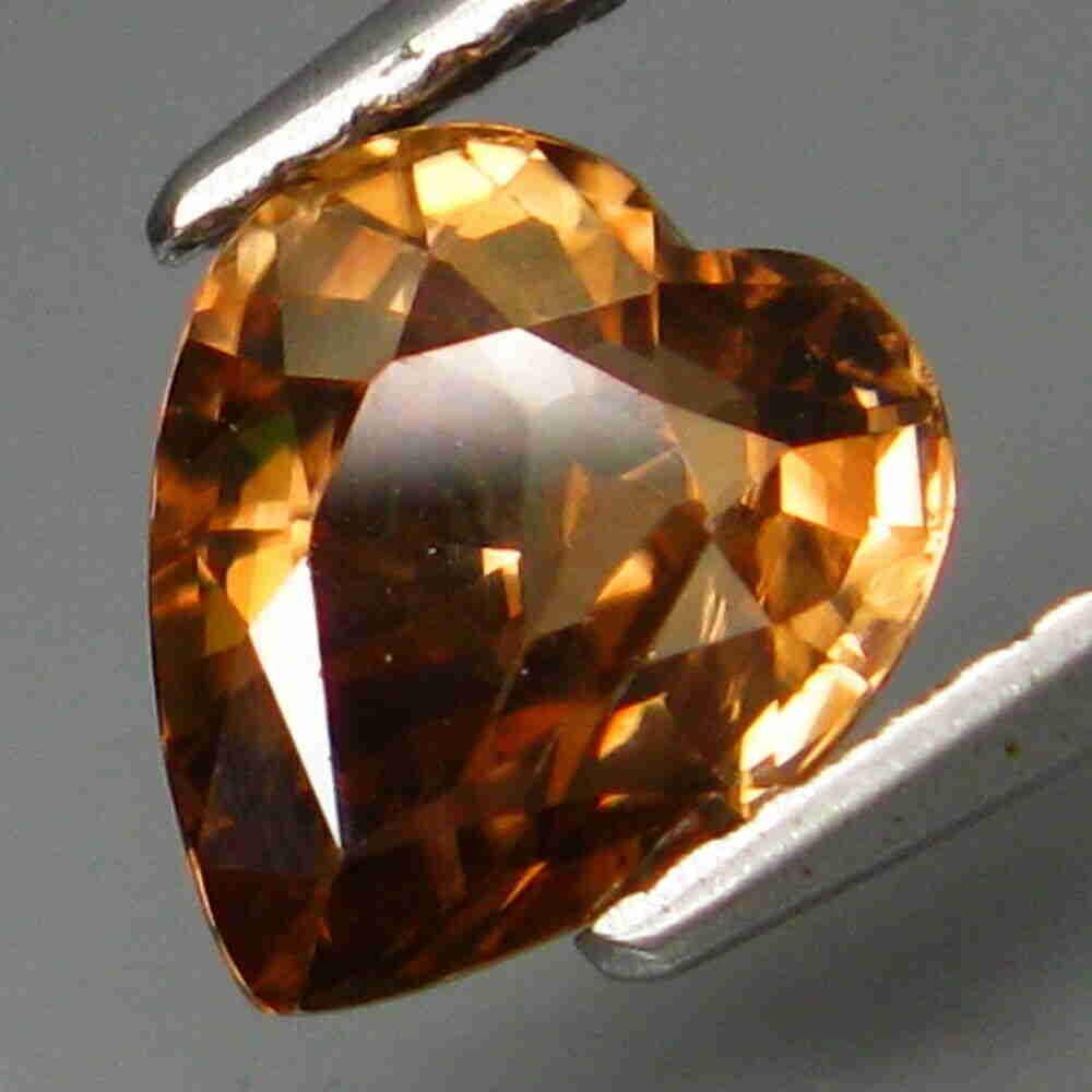 Natural imperial zircon heart-2.49 ct