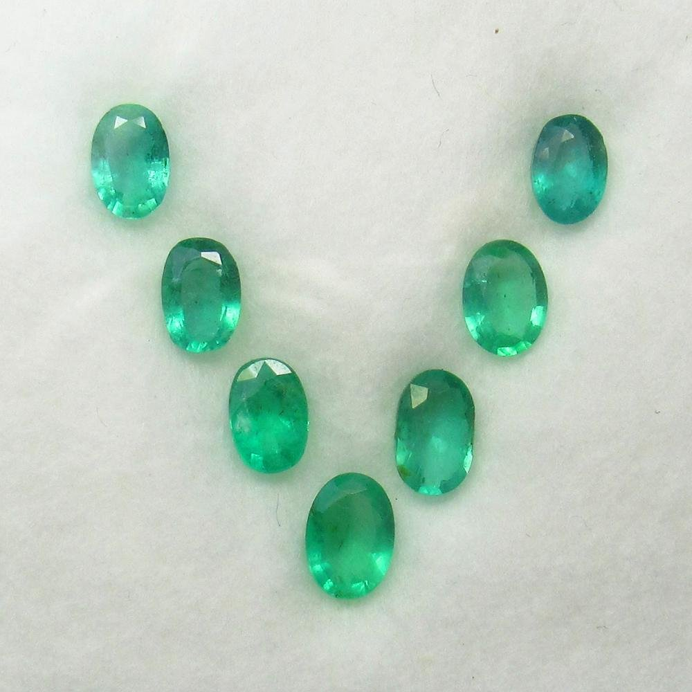 3.50 Ct Natural 7 Zambian Emerald Matching Oval