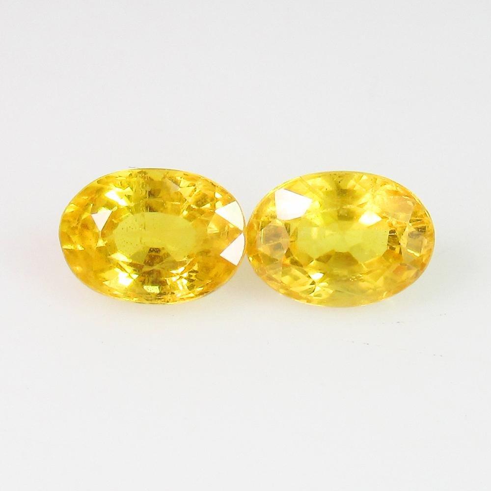 2.60 Ct Natural Ceylon Yellow Sapphire Oval Pair