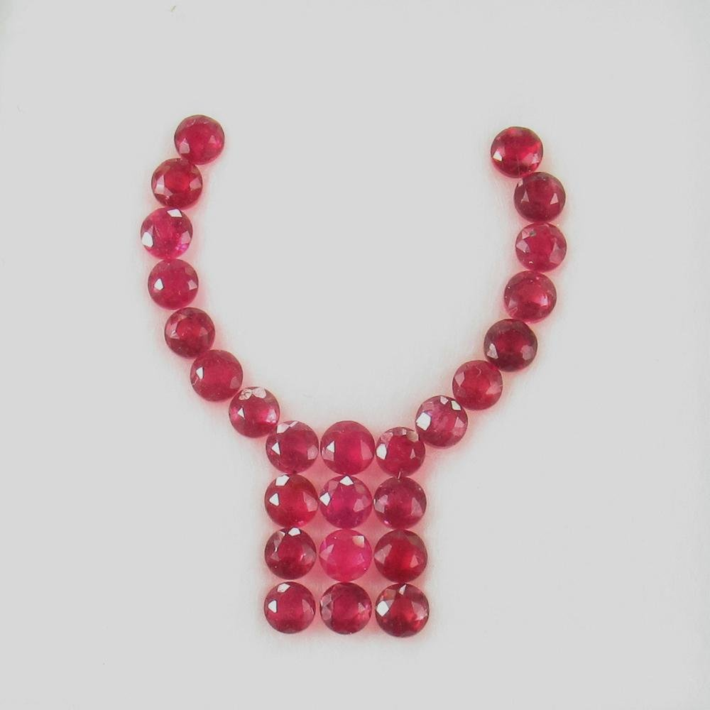 6.00 Ct Natural 26 Mozambique Red Ruby Jewellery Set